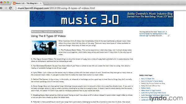 The big blogging picture: Blogging Strategies for Musicians and Bands
