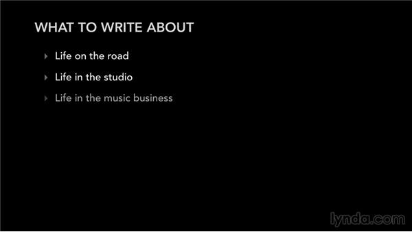 What to write about: Blogging Strategies for Musicians and Bands