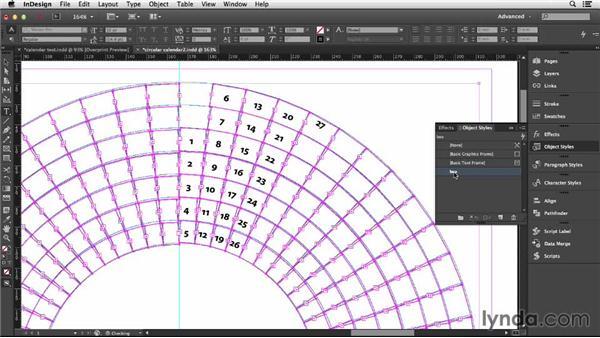 Adding text to a circular grid: Designing a Calendar