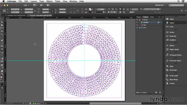 Creating the months around the circle: Designing a Calendar