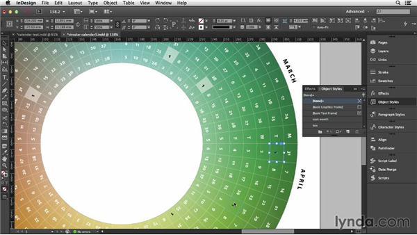 Refining the calendar text: Designing a Calendar