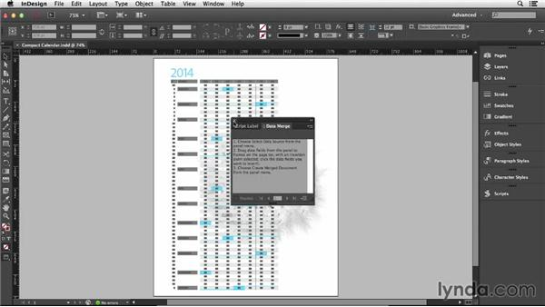 Making the calendar tables: Designing a Calendar