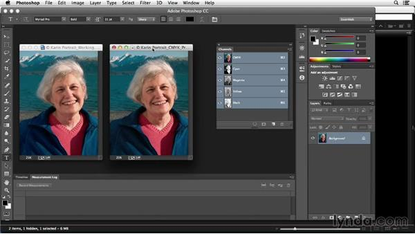 Comparing RGB and CMYK color modes: Photoshop Color Correction: Fundamentals