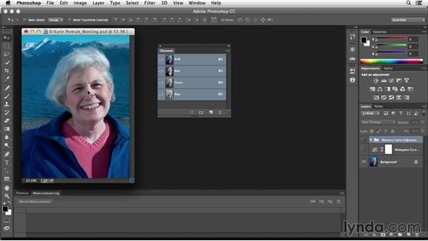 Working with skin tones: Photoshop Color Correction: Fundamentals