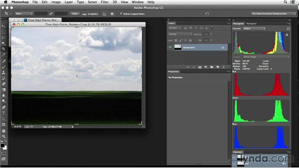 Cropping an image: Photoshop Color Correction: Fundamentals