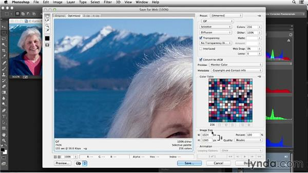 Exporting an image for use on the web and for presentations: Photoshop Color Correction: Fundamentals