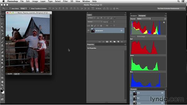 Cropping and straightening: Photoshop Color Correction: Fundamentals
