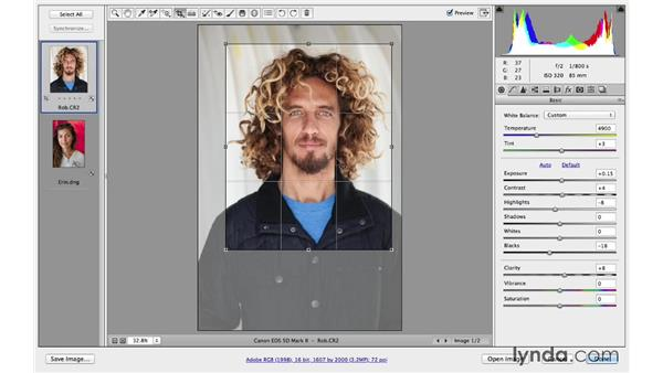 Using the Crop tool to recompose in Camera Raw: Cropping with Photoshop and Lightroom