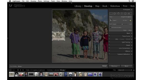 Cropping away distracting elements: Cropping with Photoshop and Lightroom