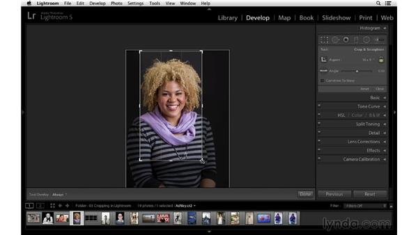 Changing the crop orientation: Cropping with Photoshop and Lightroom