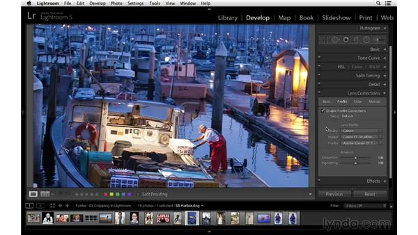 Working with lens corrections to straighten a photo: Cropping with Photoshop and Lightroom