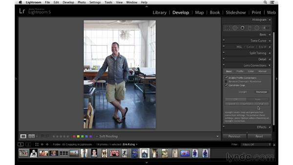 Using lens corrections and cropping for the best results: Cropping with Photoshop and Lightroom