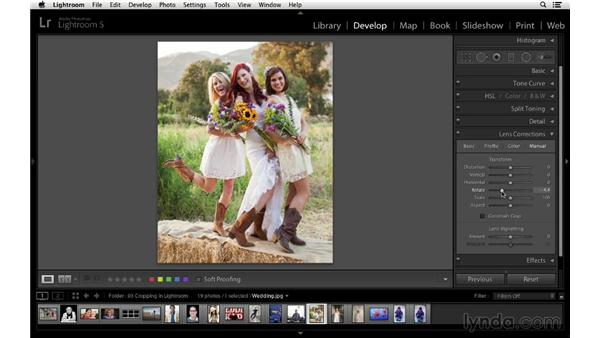 Crop and rotate for creative effect in Lightroom: Cropping with Photoshop and Lightroom