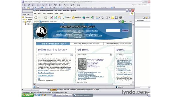 creating a new website: FrontPage 2003 Essential Training