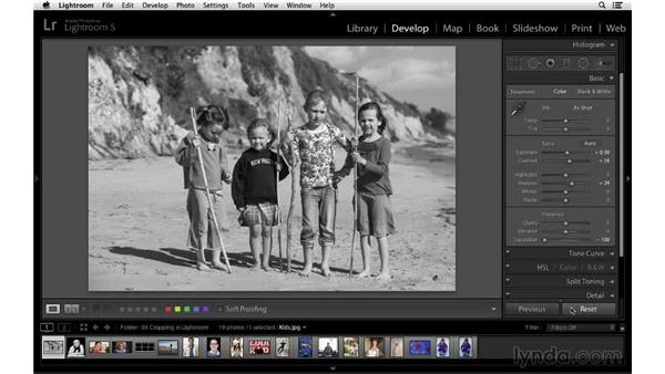 Resetting or removing the crop: Cropping with Photoshop and Lightroom