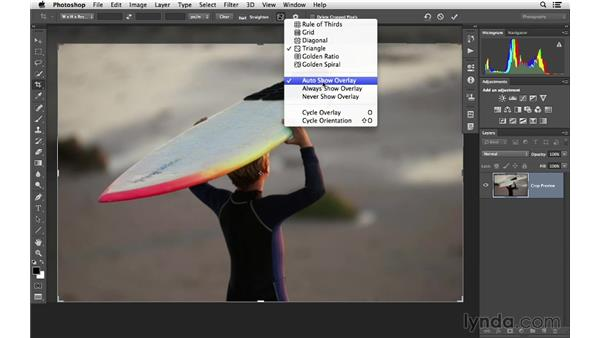 Changing the crop overlay guides: Cropping with Photoshop and Lightroom