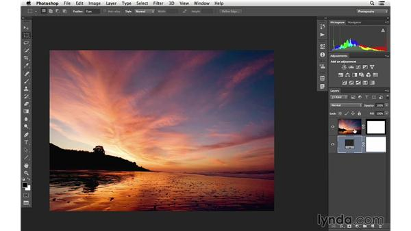 Cropping by creating a layer mask: Cropping with Photoshop and Lightroom
