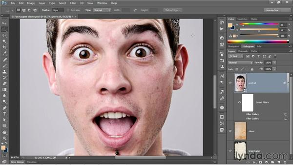 The strange power of the Sketch filters: Photoshop CC One-on-One: Mastery