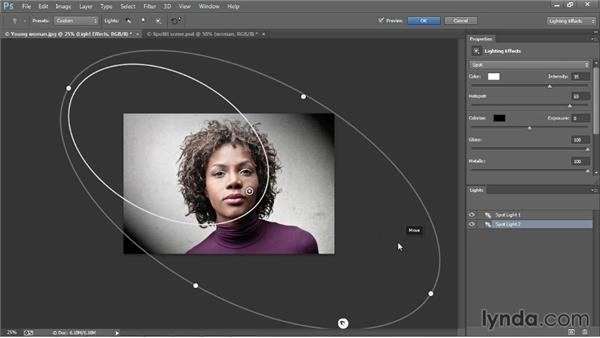 Introducing the Lighting Effects filter: Photoshop CC One-on-One: Mastery