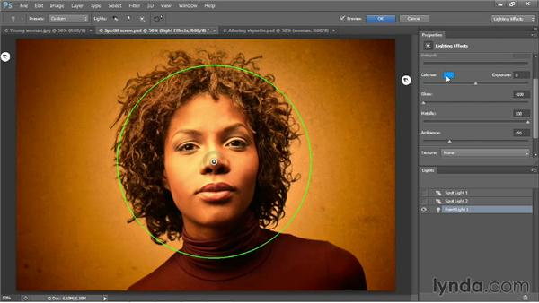 Creating a custom, colorful vignette: Photoshop CC One-on-One: Mastery