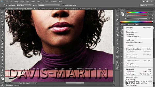 Wrapping an image using a displacement map: Photoshop CC One-on-One: Mastery