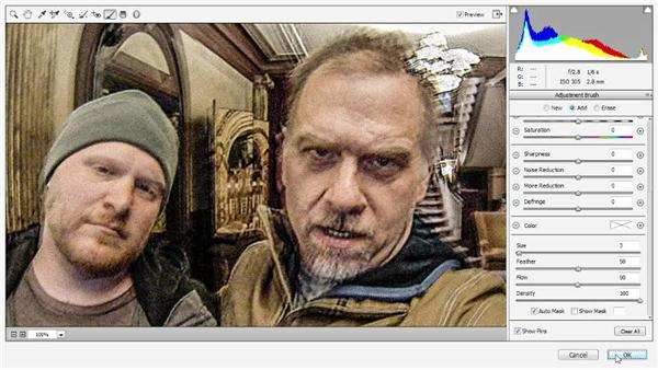 Adding grain and smoothing color artifacts: Photoshop CC One-on-One: Mastery