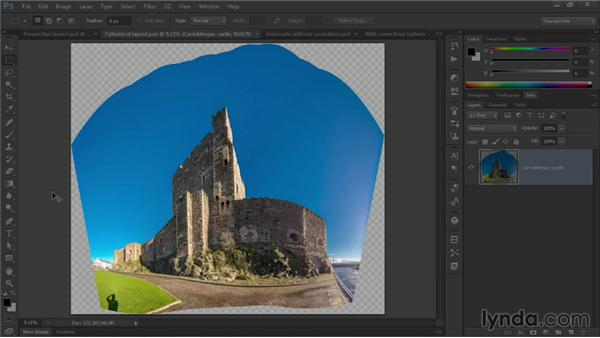 Correcting barrel distortion and panoramas: Photoshop CC One-on-One: Mastery