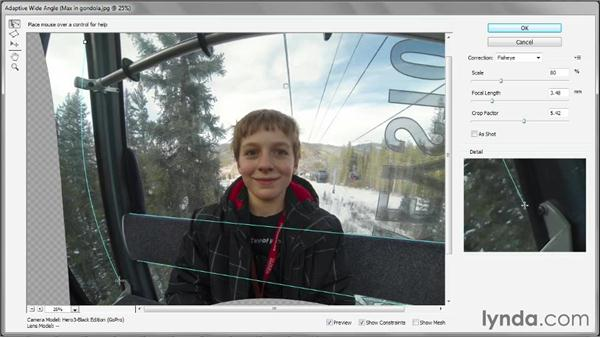 Manually straightening a GoPro photo: Photoshop CC One-on-One: Mastery