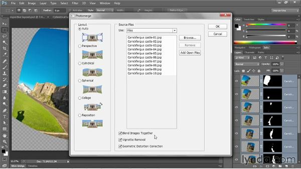 Stitching together a seamless panorama: Photoshop CC One-on-One: Mastery