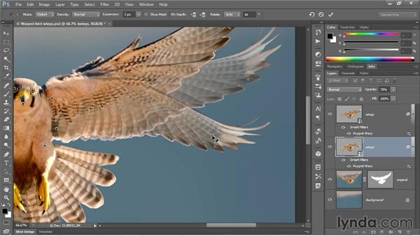 Changing the mode and adding rotation: Photoshop CC One-on-One: Mastery