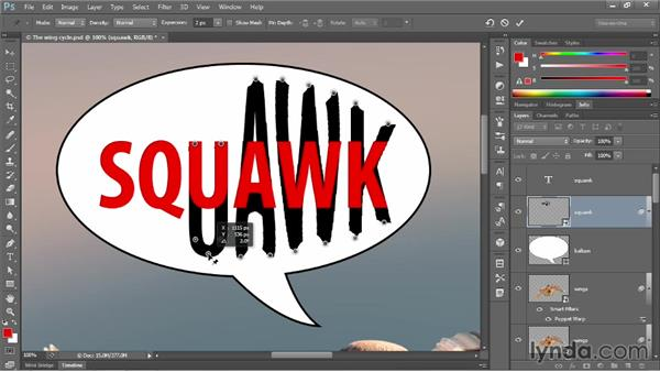 Applying Puppet Warp to editable text: Photoshop CC One-on-One: Mastery