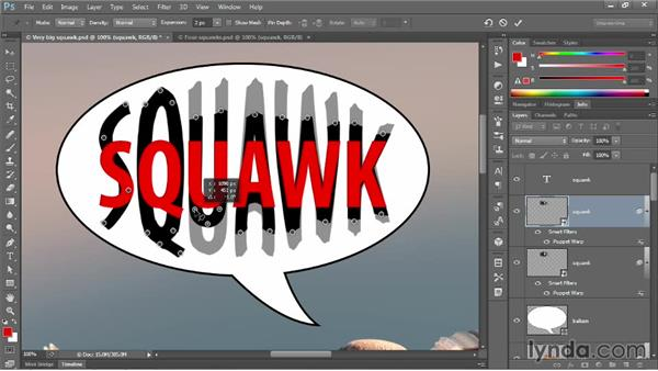 Creating an intermediate text frame: Photoshop CC One-on-One: Mastery