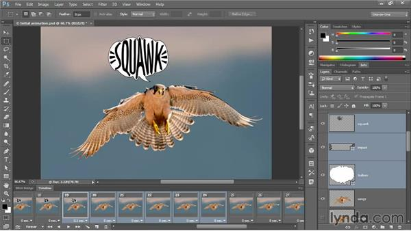 Tweening and animating text: Photoshop CC One-on-One: Mastery