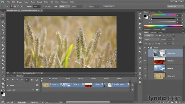 Loading video clips into Photoshop: Photoshop CC One-on-One: Mastery