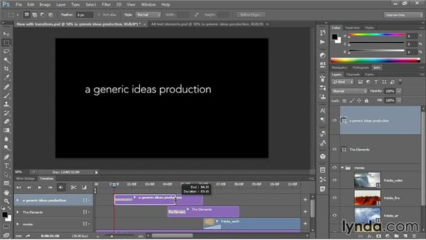 Adding text to your video: Photoshop CC One-on-One: Mastery