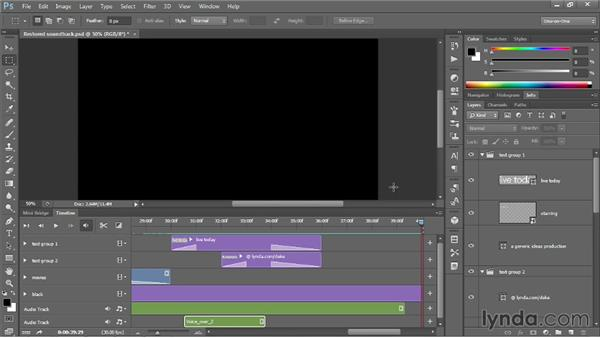 Editing an existing video comp: Photoshop CC One-on-One: Mastery