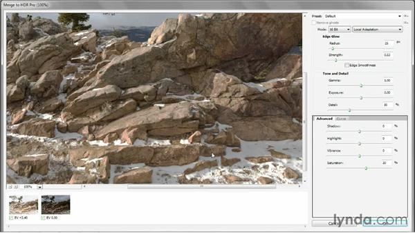 Automatically aligning bracketed photographs: Photoshop CC One-on-One: Mastery