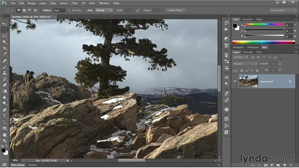 Dramatically increasing the detail in a photo: Photoshop CC One-on-One: Mastery