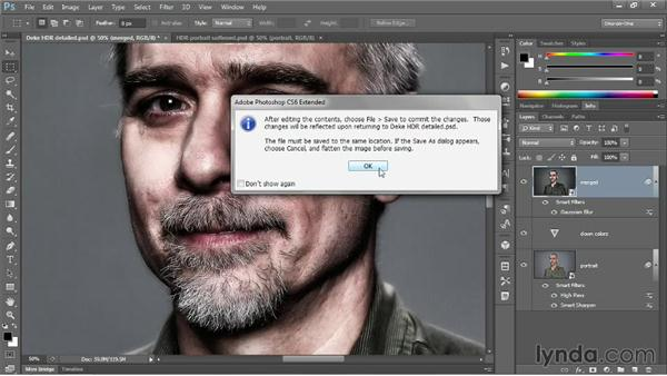 Softening an HDR portrait shot: Photoshop CC One-on-One: Mastery