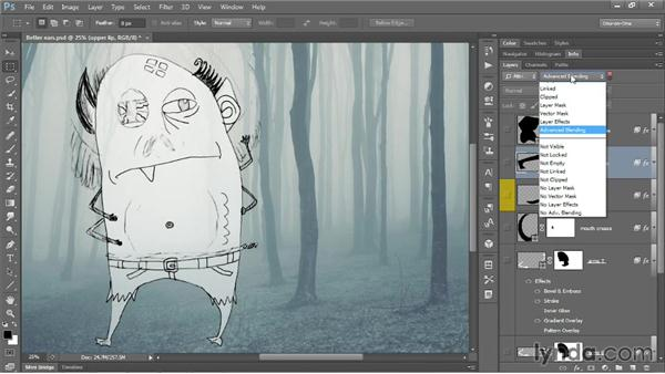 Managing the multilayer experience: Photoshop CC One-on-One: Mastery