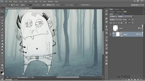 Searching by name, effect, and blend mode: Photoshop CC One-on-One: Mastery