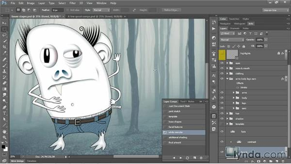 Introducing layer comps: Photoshop CC One-on-One: Mastery