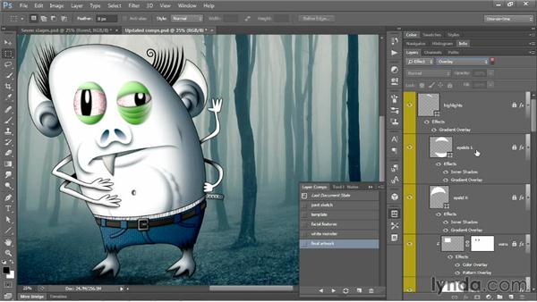 Creating a dynamic layer comp: Photoshop CC One-on-One: Mastery