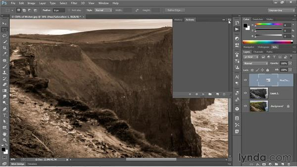 Introducing the Actions panel: Photoshop CC One-on-One: Mastery