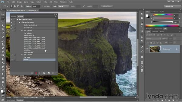 Recording a simple but practical action: Photoshop CC One-on-One: Mastery