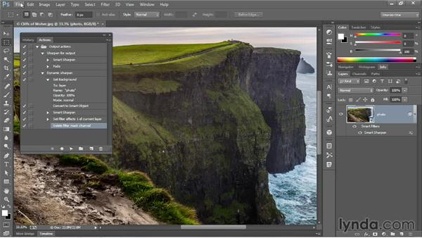 Creating a dynamically adjustable action: Photoshop CC One-on-One: Mastery