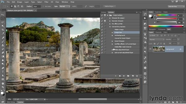 Actioning a consistent image resolution: Photoshop CC One-on-One: Mastery