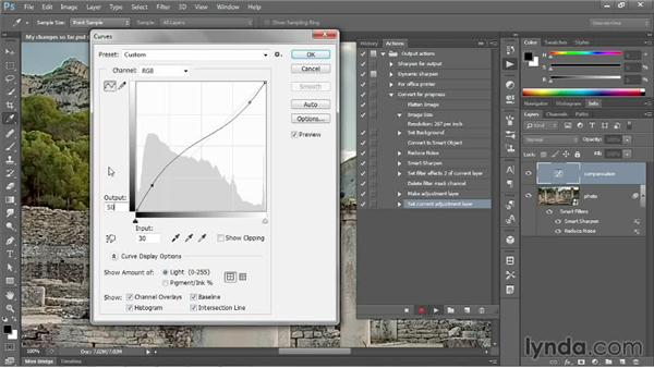 Modifying an adjustment and adding Save As: Photoshop CC One-on-One: Mastery