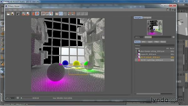 Working with Irradiance Cache and Light Mapping for global illumination: CINEMA 4D R15 New Features