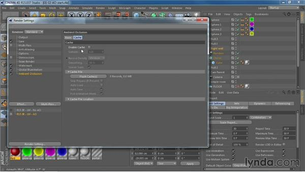 Rendering faster with ambient occlusion caching and Embree physical rendering: CINEMA 4D R15 New Features